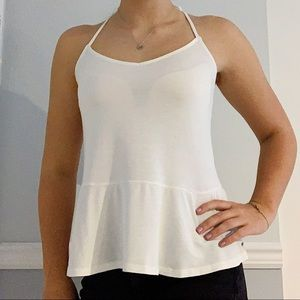 White bow hollister tank top